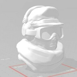 display 1.1.jpg Download free STL file Combat Radio Operator Head • 3D printable model, Valiant_Armory