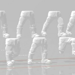 Display 2.jpg Download STL file Armored Fatigue Leg Set • Object to 3D print, Valiant_Armory