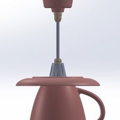 вид спереди.jpg Télécharger fichier STL La lampe est une tasse de maison. • Objet imprimable en 3D, vladimirmorozuk