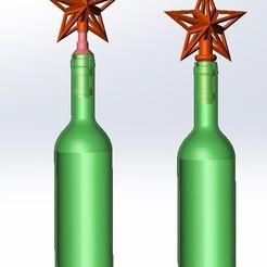 """shining star 2.jpg Télécharger fichier STL gratuit Garniture d'un arbre de Noël """"Shining star"""" (étoile brillante) • Modèle pour impression 3D, vladimirmorozuk"""