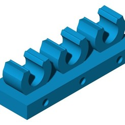 Fijacables azul.jpg Download STL file Cable ties • 3D print model, milproductos3d