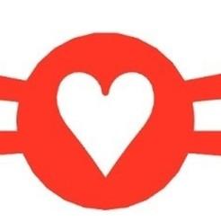 Protegeorejas carta corazones rojo.jpg Télécharger fichier GCODE gratuit Protecteur de coquille de coeur • Plan à imprimer en 3D, milproductos3d
