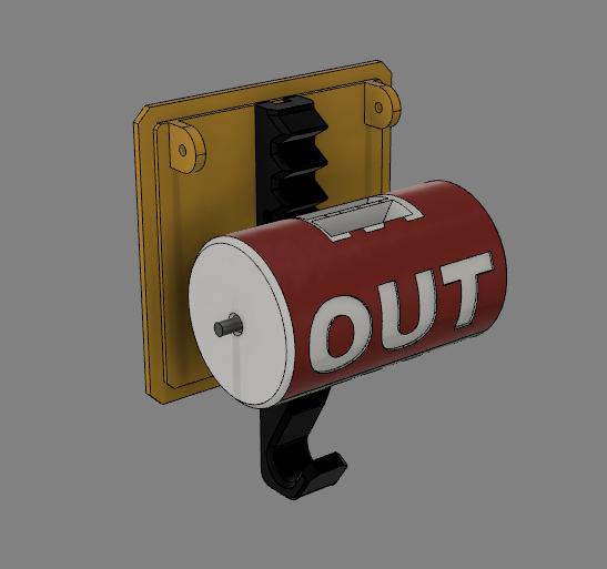 ,mnbvcxsertyuj.png Télécharger fichier STL Drapeau de signalisation du détenteur de la clé • Modèle pour imprimante 3D, TRex