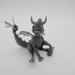 Download free 3D printing designs Spyro thje dragon, funart, funsculpt, PhilipMorris