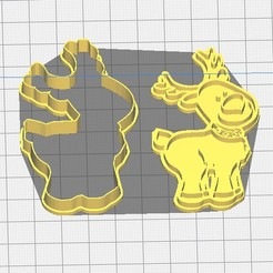 Reno de navidad.jpg Download STL file Christmas reindeer cutter and stamp • 3D print object, almeidamad