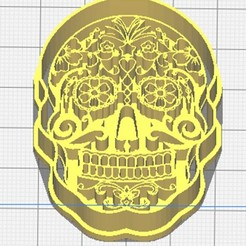 Calavera final.jpg Download STL file Calavera Day of the Dead cutter and seal • 3D print model, almeidamad