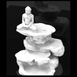 Download STL file Mahaveer Bhagwan Smoke Backflow Mountain • 3D printer object, yashmagdumstark1