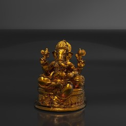 Download STL files Royal Ganpati Statue, yashmagdumstark1