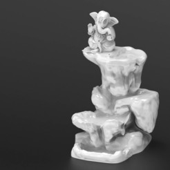 Download 3D model Ganesha Smoke Backflow Mountain, yashmagdumstark1
