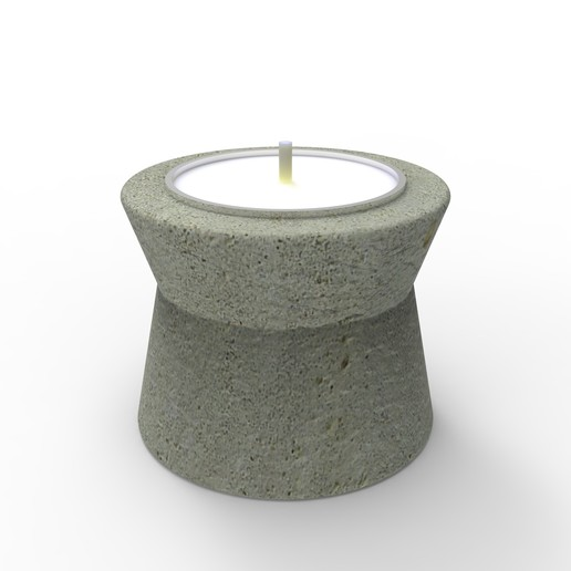 Download STL file Cement Candle Holder Mold • 3D print design, yashmagdumstark1