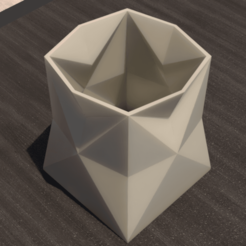 05.effectsResult.png Download STL file Desk FlowerPot • 3D printable template, xracksox
