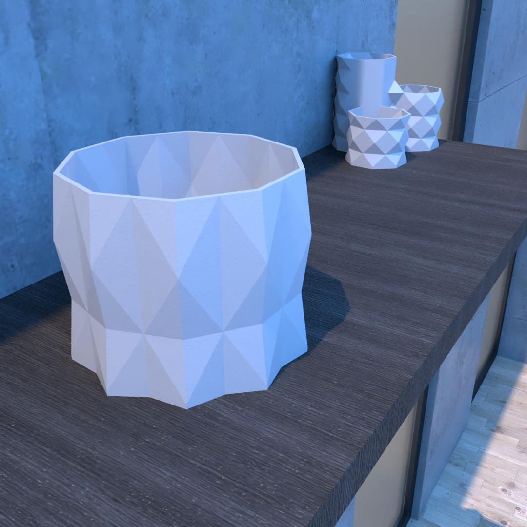 01_Escena11.effectsResult.png Download STL file DESK FLOWER POT • 3D print design, xracksox