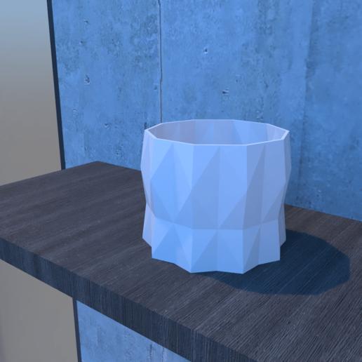 01_Escena12.effectsResult.png Download STL file DESK FLOWER POT • 3D print design, xracksox