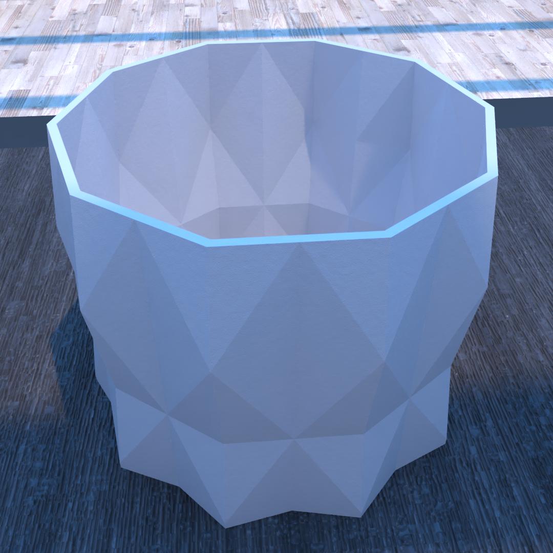 01_Escena8.effectsResult.png Download STL file DESK FLOWER POT • 3D print design, xracksox