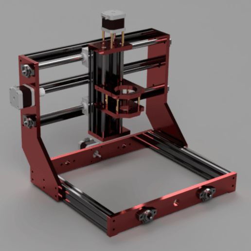 3018_front.png Download free STL file 3018 PRO Mini CNC Router Upgrade • 3D printing design, maciejkobuszewski