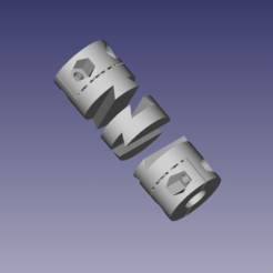 oldham.png Download free STL file Oldham coupler Z axis Nema17 5x8 mm - with larger joint • 3D printer object, maciejkobuszewski