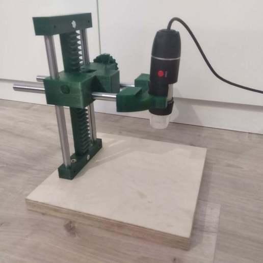 IMG_20200816_222525.jpg Download free STL file USB Microscope stand - very rigid, two axis • 3D printable template, maciejkobuszewski