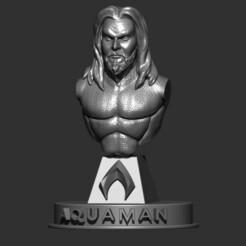 aquaman.jpg Download OBJ file Aquaman bust • 3D printer design, LaboratorioGottardello