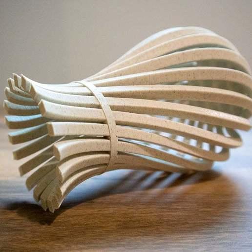 WeirdVase_Print_03.jpg Download free STL file Weird Twisty Vase • 3D print template, GeekyFayeArt