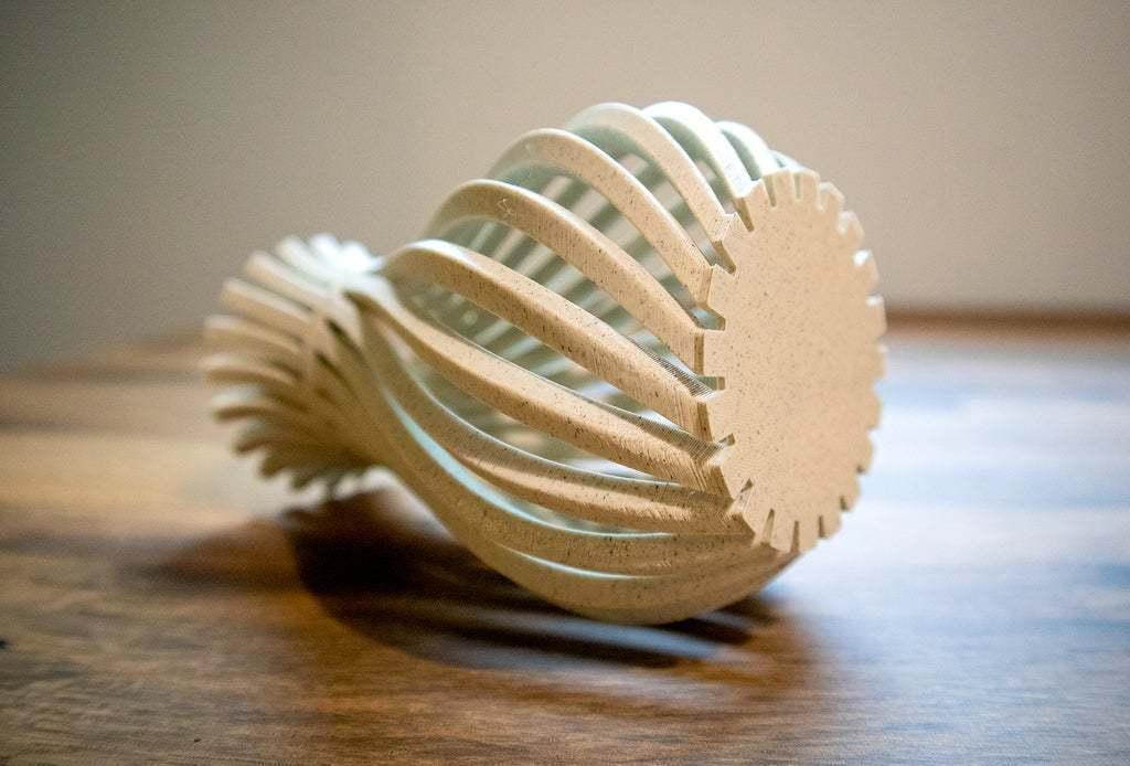 WeirdVase_Print_02.jpg Download free STL file Weird Twisty Vase • 3D print template, GeekyFayeArt