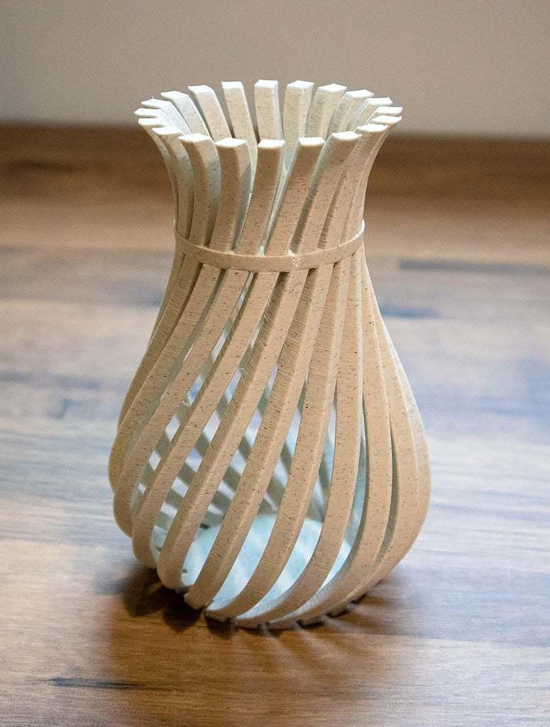 WeirdVase_Print_04.jpg Download free STL file Weird Twisty Vase • 3D print template, GeekyFayeArt
