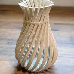 WeirdVase_Print_04.jpg Download free STL file Weird Twisty Vase • 3D print template, GeekyFayeArt