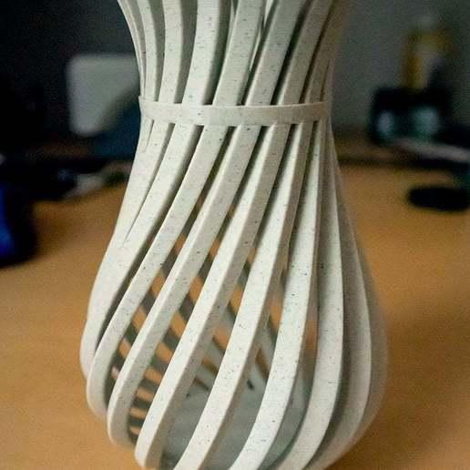 WeirdVase_Print_01.jpg Download free STL file Weird Twisty Vase • 3D print template, GeekyFayeArt