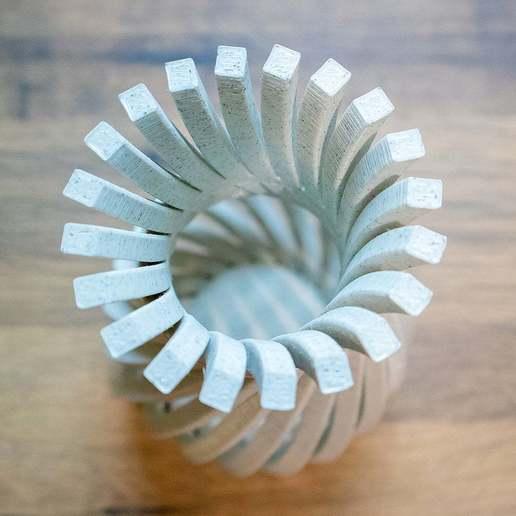WeirdVase_Print_05.jpg Download free STL file Weird Twisty Vase • 3D print template, GeekyFayeArt