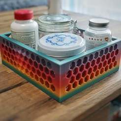 Download free STL file Honeycomb Box Tray Table Organizer!, GeekyFayeArt