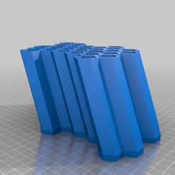 GFA_CopicHolder_AltWallMountPiece_Top.png Download free STL file Modular Vertical Honeycomb Copic Marker Stand • 3D printing template, GeekyFayeArt