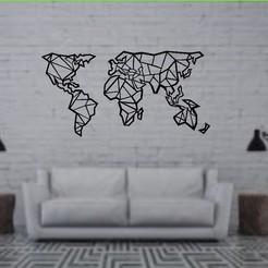 Mapa mundi.jpg Télécharger fichier STL Sculpture murale Carte du monde • Plan pour impression 3D, raulrodriguez007123