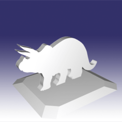 Download 3D printer model STL file: Triceratops - Dinosaur toy Design for 3D Printing, circlesquare777