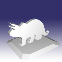 Descargar archivo 3D Archivo STL: Triceratops - Diseño de juguete de dinosaurio para impresión en 3D, circlesquare777