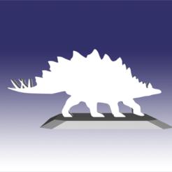 Descargar modelos 3D para imprimir Stegosaurus - Diseño de juguete de dinosaurio para impresión 3D, circlesquare777
