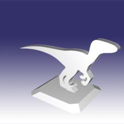 Descargar diseños 3D Raptor - Diseño de un juguete de dinosaurio para impresión en 3D, circlesquare777