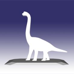 Descargar modelos 3D Brontosaurus - Diseño de juguete de dinosaurio para impresión 3D, circlesquare777