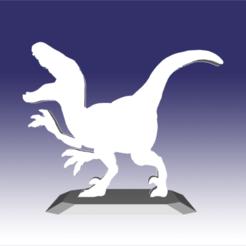 Descargar archivos STL Velociraptor - Diseño de juguete de dinosaurio para impresión en 3D, circlesquare777