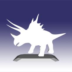 Descargar modelo 3D Triceratops - Diseño de juguete de dinosaurio para impresión en 3D, circlesquare777