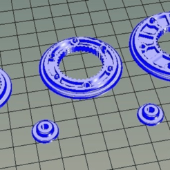 Download free STL files Pulleys using 608 bearings, bwaslo