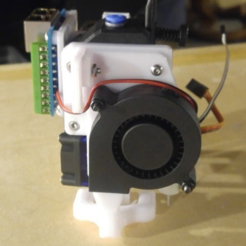 "Download free 3D printing models Carriage for BMG and BLTouch with Duct and RJ45 mounts, ""Over the Top"" Style, bwaslo"