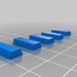 Trapezoidal_Pin_5_sizes.png Télécharger fichier STL gratuit Coupe flottante améliorée, bon équilibre • Modèle imprimable en 3D, bwaslo