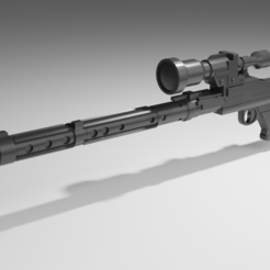 Download 3D printing models DLT-19X Star Wars Sniper Rifle for 6 inch figure, yo_william_22
