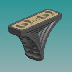 Download 3D printer templates SHORT HANDSTOP M-LOK, AxeN