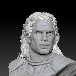 c2.jpg Download STL file WITCHER GEROLT NETFLIX BUST MODEL FOR 3D PRINT • 3D printer template, figuremasteracademy