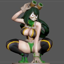 1.jpg Download STL file TSUYU ASUI SEXY VERSION MY HERO ACADEMIA STATUE CHARACTER ANIME GIRL 3d print • 3D printing design, figuremasteracademy