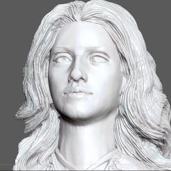 6.jpg Download OBJ file YENNEFER BUST WITCHER NETFLIX FANTASY MAGE GEROLT PRINTABLE • 3D printable design, figuremasteracademy