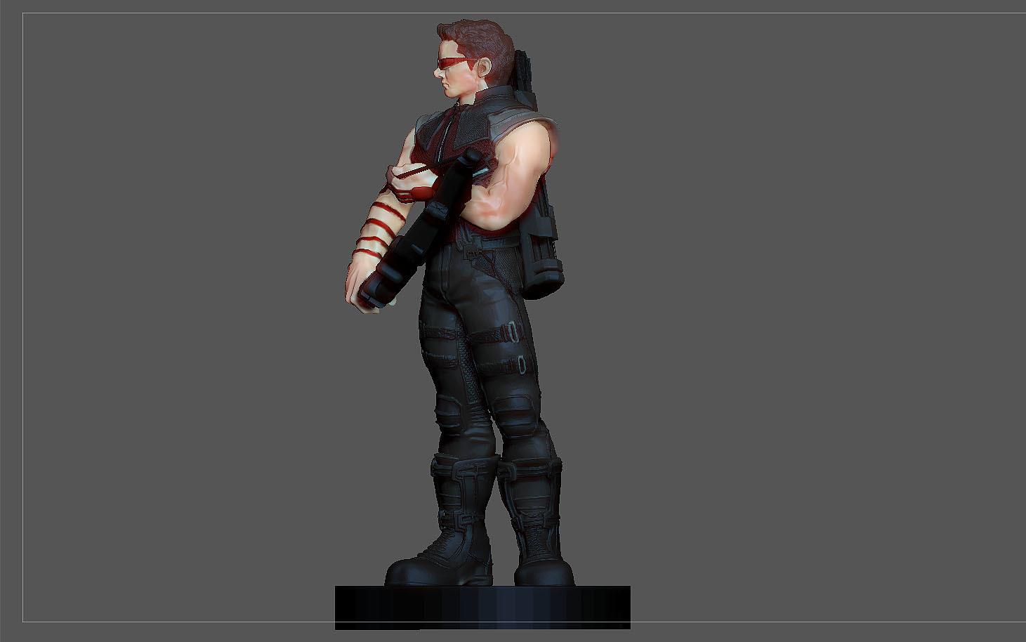 5.jpg Descargar archivo STL FIGURA DE LA ESTATUA DE JEREMY DE HAWKEYE AVENGERS MCU MARVEL • Objeto imprimible en 3D, figuremasteracademy
