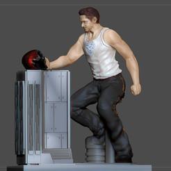 1.jpg Download STL file TONY STARK AVENGERS ENDGAME STATUE IRONMAN MARVEL MCU • Design to 3D print, figuremasteracademy