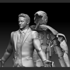 2.jpg Download STL file IRONMAN HATCH OPEN TONY STARK AVENGERS STATUE MARVEL MCU • 3D print template, figuremasteracademy