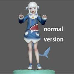 1.jpg Télécharger fichier STL GAWR GURA VERSION NORMALE STATUE FILLE MIGNONNE PERSONNAGE D'ANIME MODÈLE D'IMPRESSION 3D • Objet à imprimer en 3D, figuremasteracademy